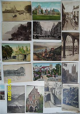 15 Vintage Postcards,Non USA,14 Used w.Stamps,Germany,UK,Canada,Austria,Sp,IT