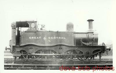 Railway Photo GCR 12AT 450 Great Central MS&LR Sacre 2-4-0T Loco LNER E8