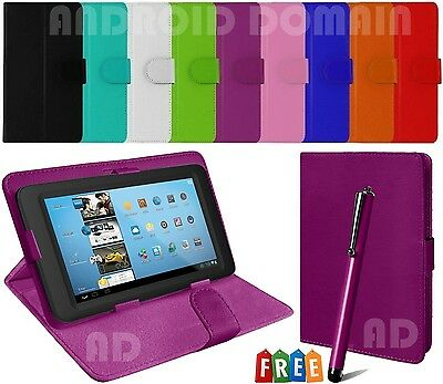 "Plain Magnet Flip Case Cover Fits Acer Iconia One 10 B-3 10.1"" Inch Tablet + Pen"
