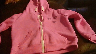 girls pink hoodie size3-4 years