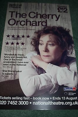 The Cherry Orchard theatre poster Zoe Wanamaker National Theatre
