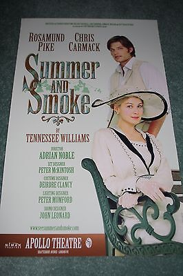 Summer and Smoke West End theatre poster Rosamund Pike Chris Carmack Tennessee