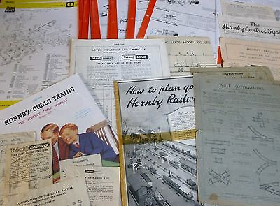 Hornby Meccano Assorted Leaflets Service Sheets Pull-outs Ephemera Model Railway