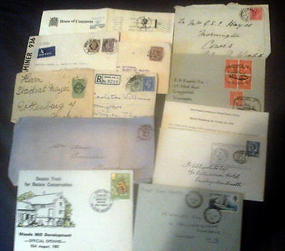 11 x GREAT BRITAIN QV - QE2 POSTAL HISTORY ITEMS, FIRST DAY & EVENT COVERS ++++