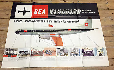 British European Airways Vickers Vanguard Huge Poster Brochure Bea B.e.a.
