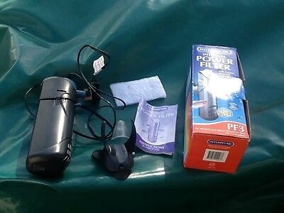 Used Interpet internal power filter for aquariums PF3 tanks 90cm/82-136 litres