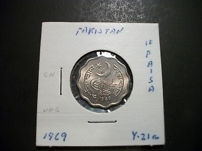 Pakistan 1969 10 Paisa unc coin foreign