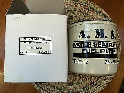 All Marine Spares Branded Mercruser Type Boat Water Separating Fuel Filter