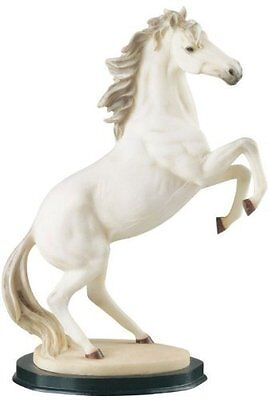 13.5 Inch White Rearing Horse Animal Figurine Statue Collectible Figure Wild