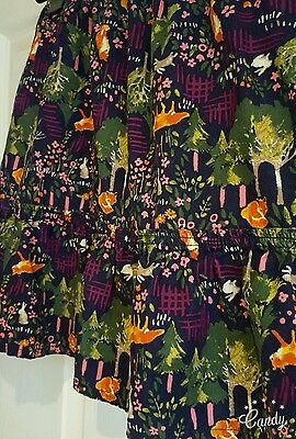 GIRLS *ANIMALS CORD STYLE SKIRT*  LANDS END 12 13 14years/ Size 8-10  FOXES