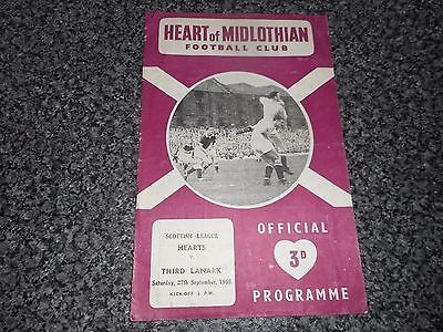 HEART OF MIDLOTHIAN ' HEARTS '  v  THIRD LANARK  1958/9  SCOTLAND ~ SEPTEMBER 27