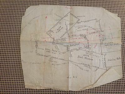 C1900? Miners Claim Map Nevada Halifax, Belmont, Silver State, Del Monte, More