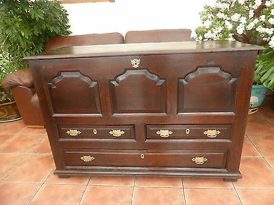 Large  Country Oak Four Drawer Mule Chest 1720  Free Shipping