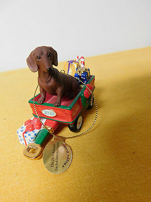 Danbury Mint Dachshund Christmas Ornament