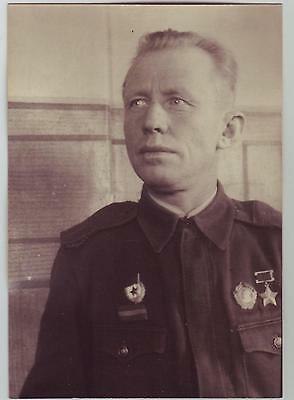 Russia Ussr Wwii Heroes Serie Photo: Hero Of Soviet Union, Name On The Reverse