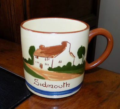A Vintage Old Dartmouth Pottery Devon Torquay Motto Ware Tea Cup - Sidmouth