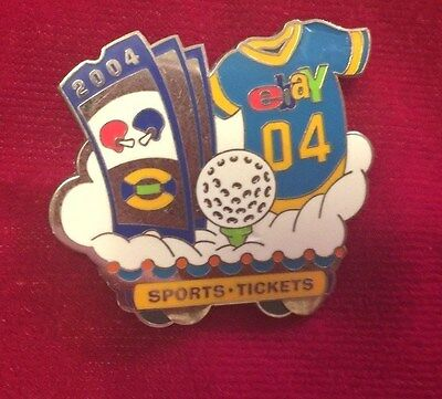 Ebay Live Collectible Pin 2004 SPORTS TICKETS