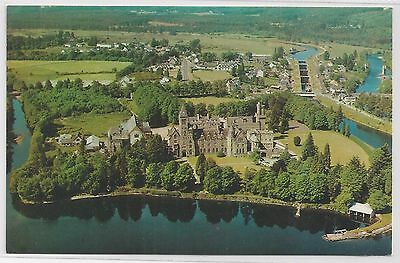 Colour Postcard – Fort Augustus Abbey & Village from the air.