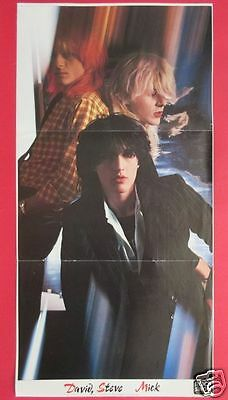 Japan David Sylvian Mick Karn Rod Stewart 1979 Fold Out Pin Up Poster Rs 4A