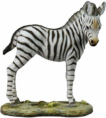 "6.5"" Baby Zebra Statue Animal Figure Figurine Decor Collectible Wildlife Safari"
