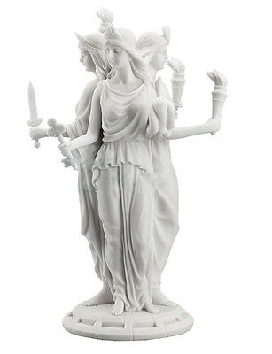 """11.75"""" Hecate Hekate Greek Goddess of Magic Voodoo Pagan Wiccan Statue Magick"""