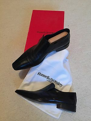 Men's Russell & Bromley black leather, smart shoes