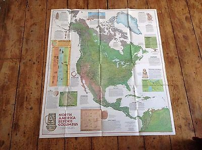 National Geographic Map Indians Of North America 1972
