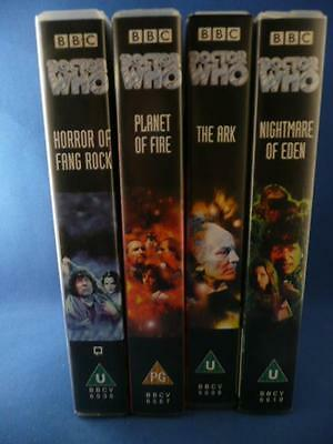 Dr Who 4 Tape Vhs Video Bundle Job Lot Bbc The Ark Planet Of Fire Plus 2 More