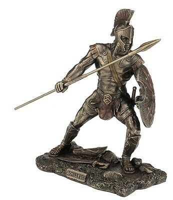 "10"" Achilleus Statue Greek Hero Trojan War Achilles Sculpture Decor Figure"