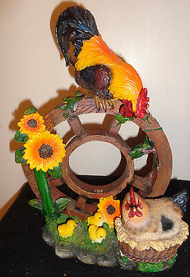 Farm Rooster and Hen Chicken Family , Home Decor