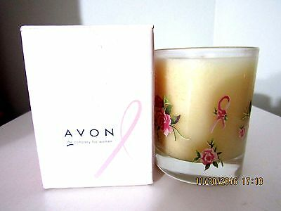 "Avon Breast Cancer Crusade Candle Rose Scent 4"" New In Box"