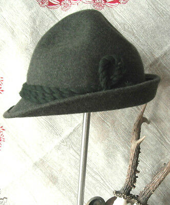 German Men's Trachten Hat Tirolerhut Jaegerhut Green
