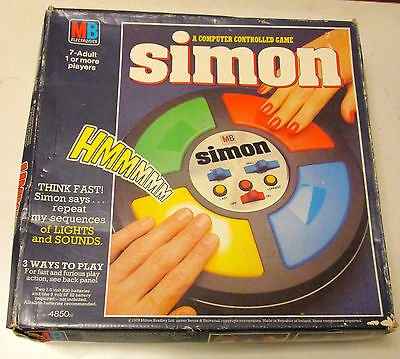 Rare ~  1970's Simon Electronic Game ~ Mb Games ~ Boxed & Original Instructions