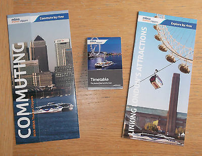 Thames Clippers Ferries Timetable, Fares and Sightseeing Leaflets