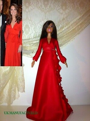Celebrity Barbie Kate outfit, red dress
