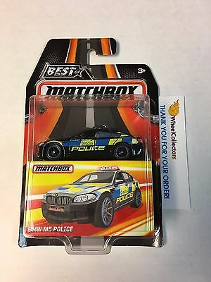 BMW M5 Police * Black * Matchbox BEST OF 2016 w/ Real Riders