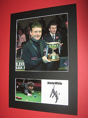 Jimmy White Snooker A4 Photo Mount Signed Reprint Autograph
