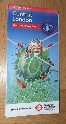 Transport for London  Central London Bus Map Jan 2015 mint condition LATEST ED'N
