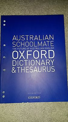 Australian Schoolmate Oxford Dictionary and Thesaurus by Oxford University...