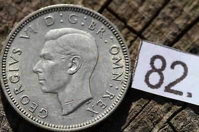 1945 - Silver - One Shilling - Great Britain - George VI - English UK - Coin