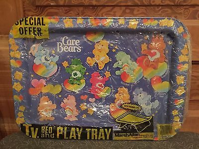 Vintage 1980's Care Bears Metal TV Tray Never Used