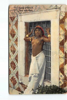 Orientalist Woman Middle East or AFRICA NUDE Breast Berber Alger French Color