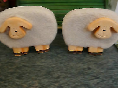 2 cute little woolly sheep ornaments-great nursery decor/Christmas gift/nativity