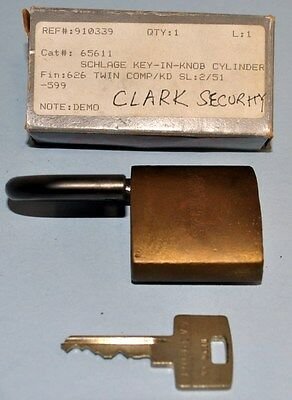 NEW ASSA Key-in -Knob Cylinder High Security keyway / With used Schlage padlock
