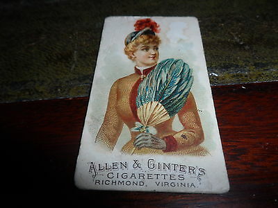 Allen & Ginter ~ Fans Of The Period ~ # 36