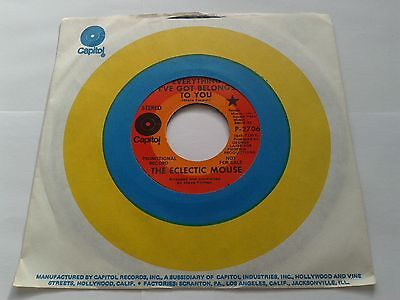 """Rare Psych - The Eclectic Mouse """"Everything I've Got Belongs to You"""" 7"""" Vinyl NM"""