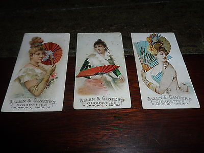 Allen & Ginter ~ Fans Of The Period ~ # 26 27 34