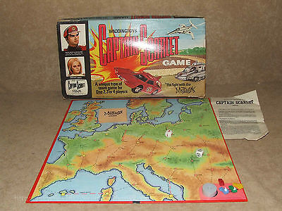 Captain Scarlet The Fight With The Mysterons Game - Waddingtons - Vintage 1967