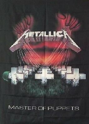 RARE METALLICA Master of Puppets James Hetfield Fabric Poster Flag Banner-New!