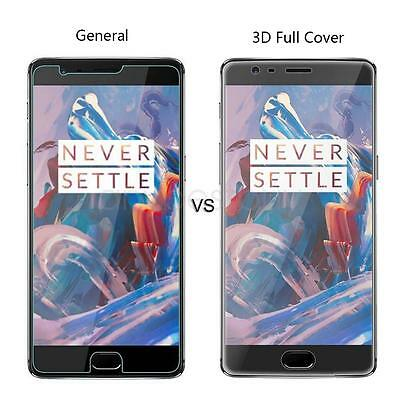 3D Full Curved CLEAR LCD Screen Protector Guard Film Shield For Oneplus 3 9H